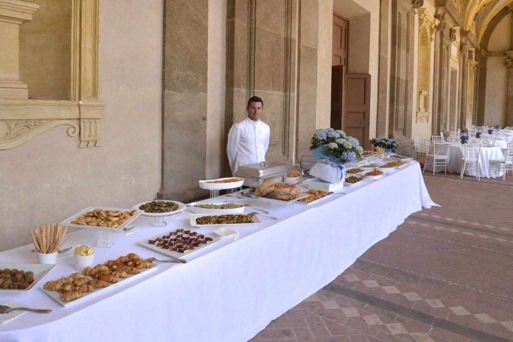 Buffet aziendale in occasione di un Congresso a Villa Mondragone