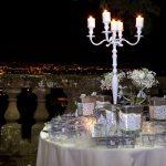 Mise en place con vista su Roma a Villa Mondragone