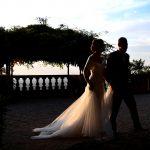 Coppia di sposi a Villa Mondragone
