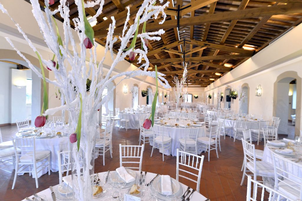 Matrimonio invernale - allestimento