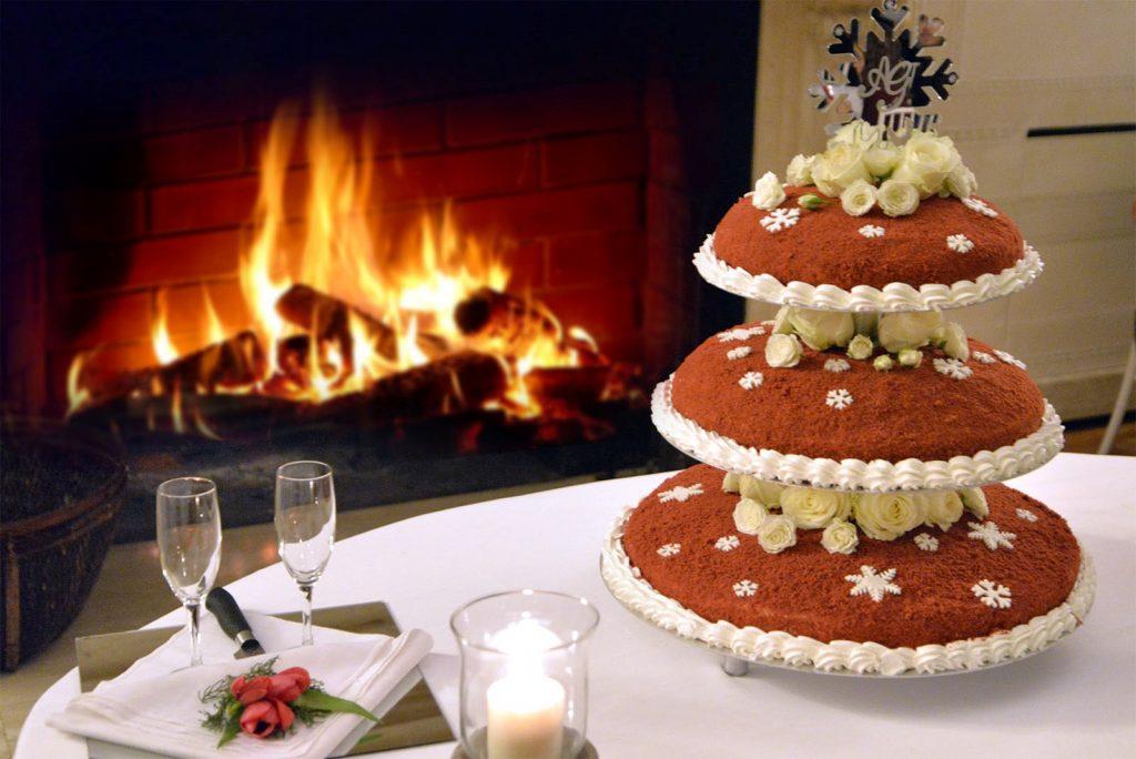 Matrimonio invernale - caminetto
