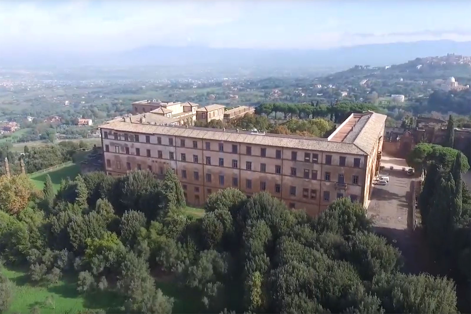 Veduta aerea Villa mondragone