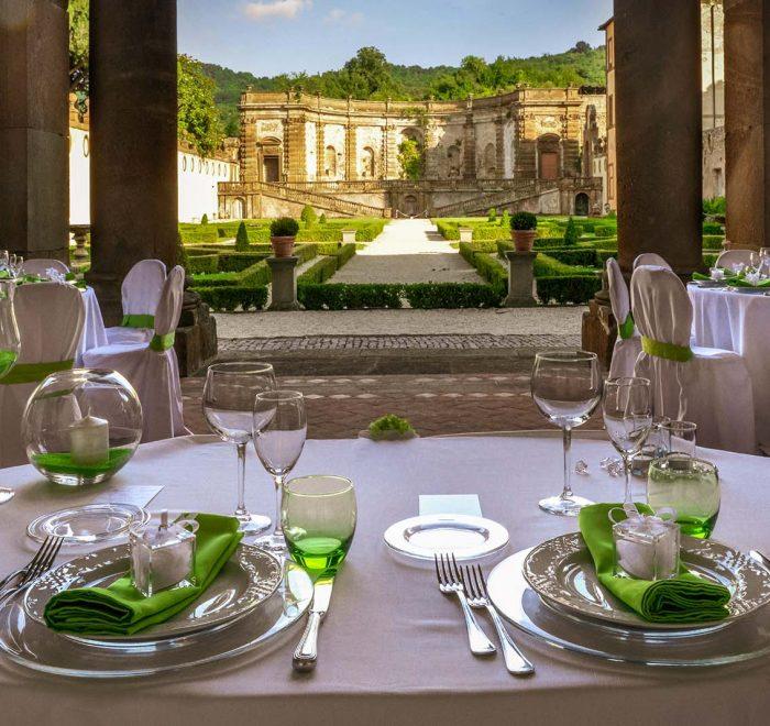 Mise en place matrimonio Villa Mondragone